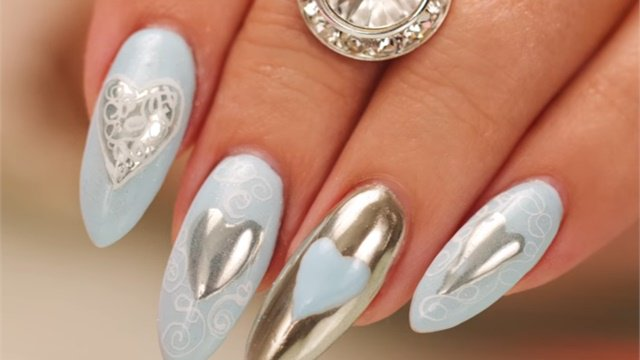 Nails Magazine On Twitter Chrome Hearts And Calligraphy Nail Art