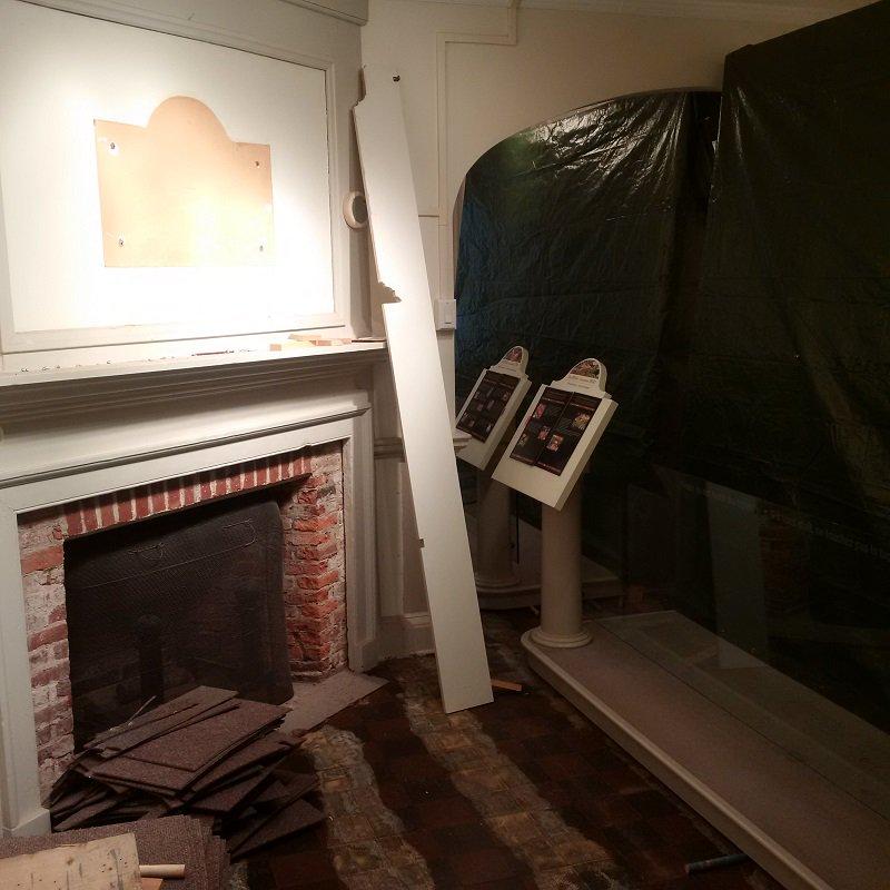 build corner wood fireplace