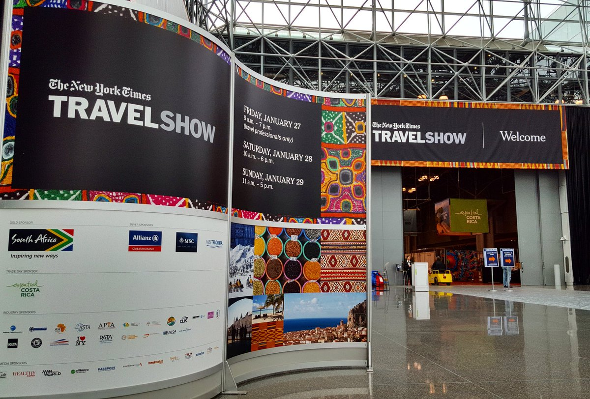 Good morning from the #NYTTravelShow! Who is joining us this weekend? https://t.co/aNy2jhL62n