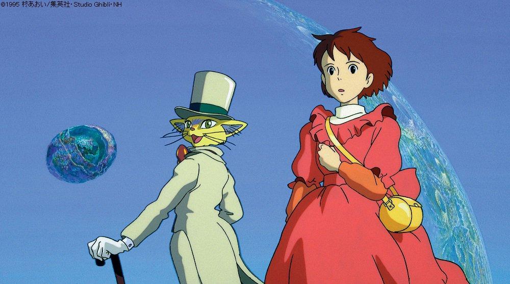雫さんが劇中で書く「バロンのくれた物語」が具現化するシーン。このシーンは宮崎監督が演出を担当しました…