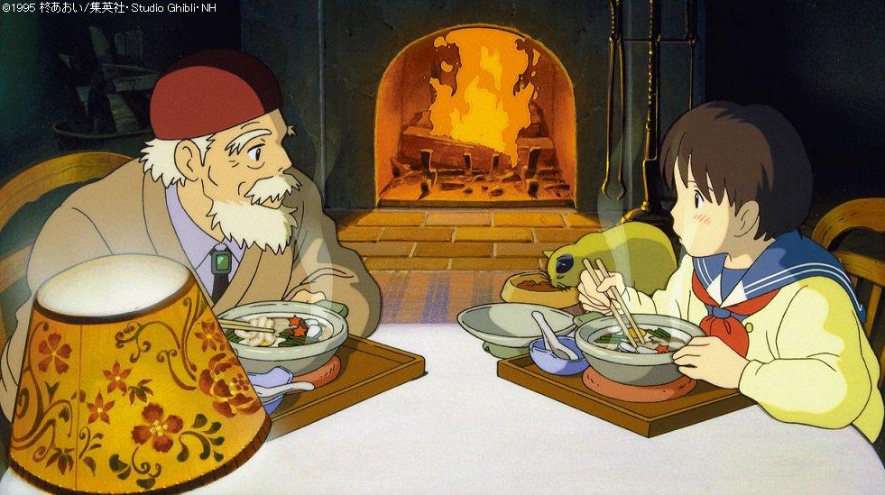 出ましたジブリ飯!今回は鍋焼きうどん、ジブリのご飯は、いっつもおいしそうです~ #kinro #耳を…