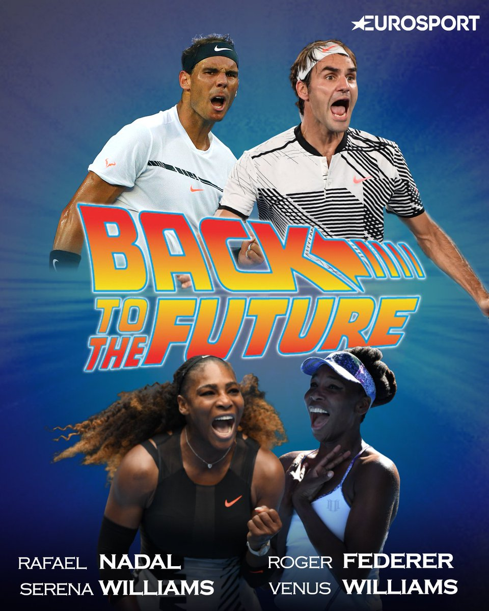 #Federer vs #Nadal  #SerenaWilliams vs #VenusWilliams  #AustralianOpen #EurosportTENNIS 🎾🔝😍