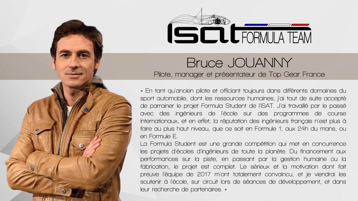isat on twitter isat formula team trop fier d 39 tre parrain par bruce jouanny pilote et. Black Bedroom Furniture Sets. Home Design Ideas