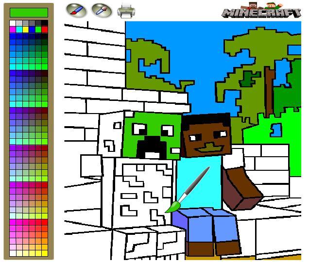 minecraft malvorlagen kostenlos  malbild