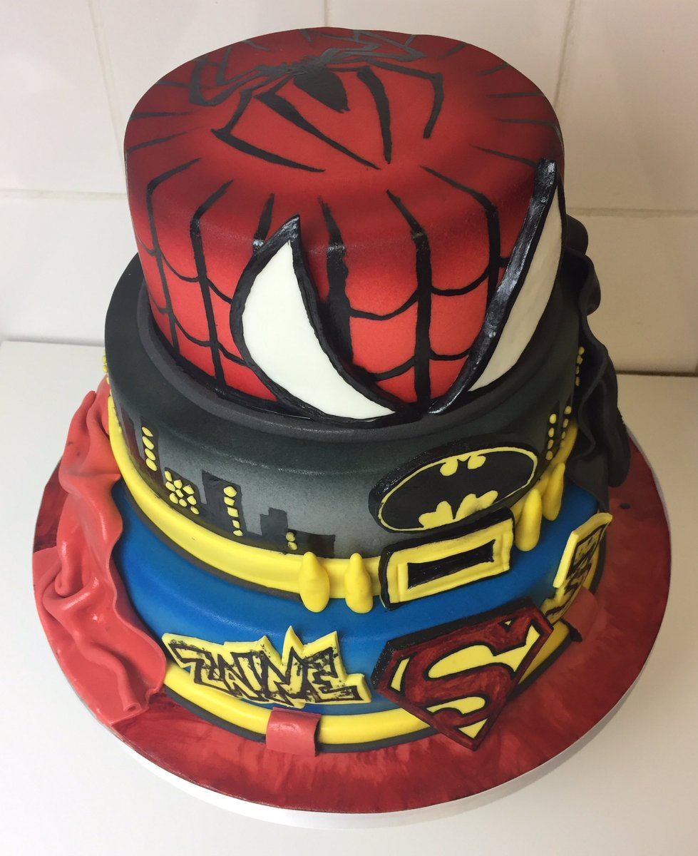 The Bakeking On Twitter Superhero Themed Birthday Cake