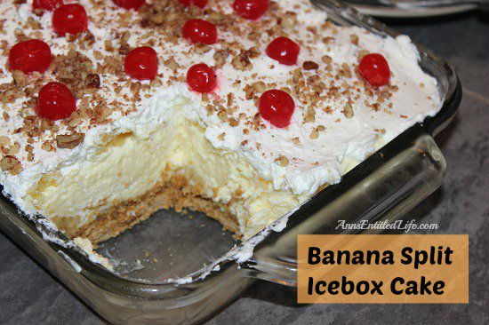 Banana Split Icebox Cake Recipe