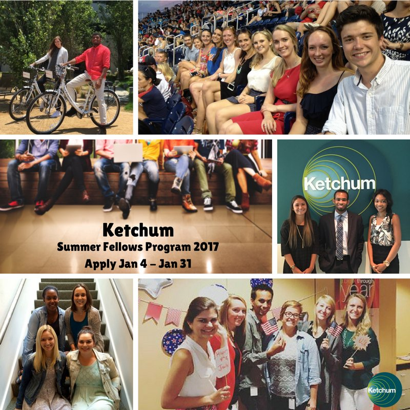 Ever wonder what it's like to be a comms professional? @KetchumPR Summer Fellows program is a great place to start: https://t.co/hw54X4U2VZ https://t.co/IvvJgwPjIT