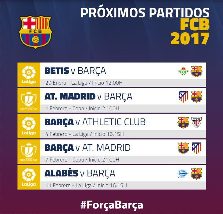 Calendario Del Barca.Fc Barcelona On Twitter Este Es El Calendario Mas Proximo Del