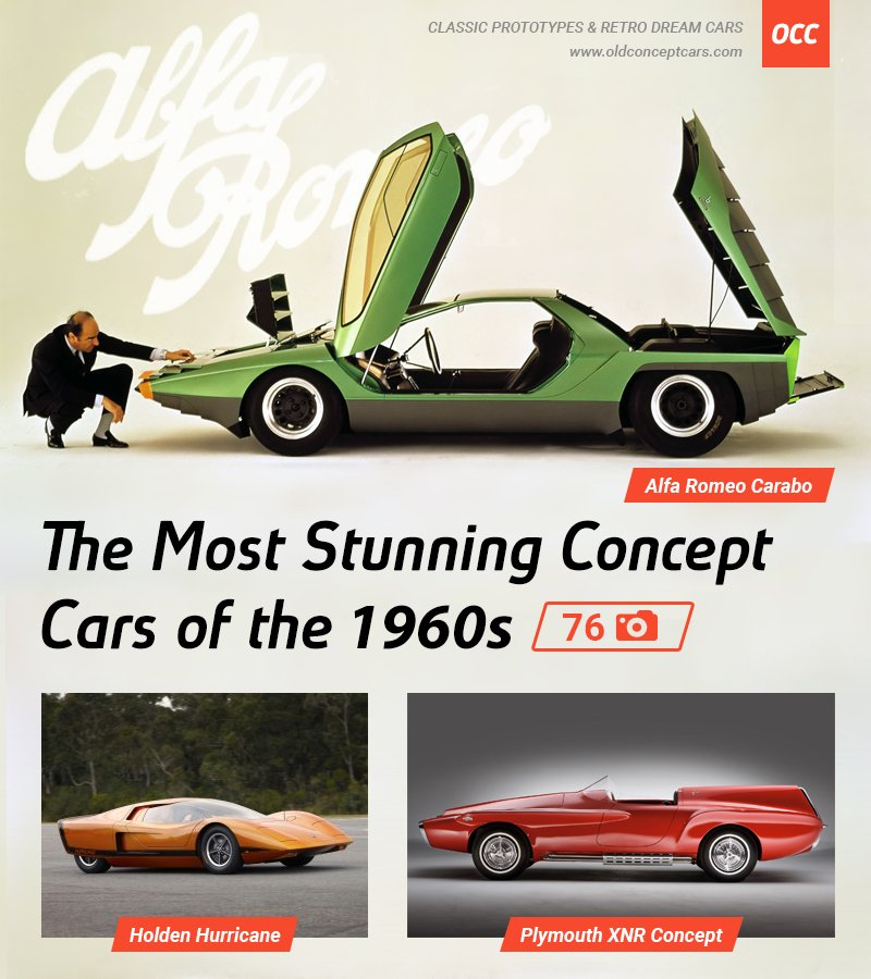 The Most Stunning Concept Cars of the 1960s -- 60+ photos & 26 cars -- http://oldconceptcars.com/the-most-stunning-concept-cars-of-the-1960s/…