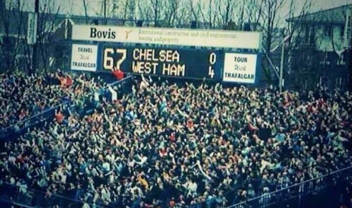 """The Away Fans on Twitter: """"West Ham away at Chelsea, back in 1986. #WHUFC… """""""