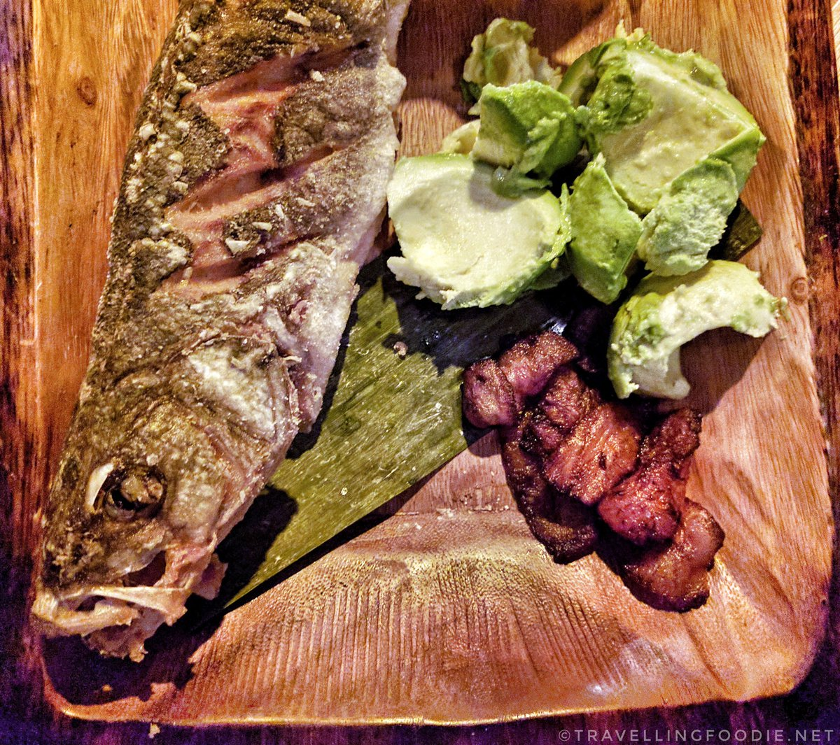 Traveling Foodie Eats Fried WHole Fish at Baro Toronto