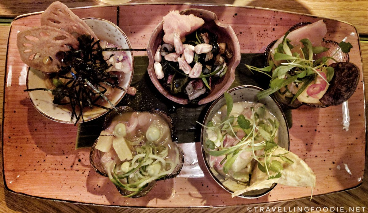 Travelling Foodie Eats Ceviche Flight at Baro Toronto