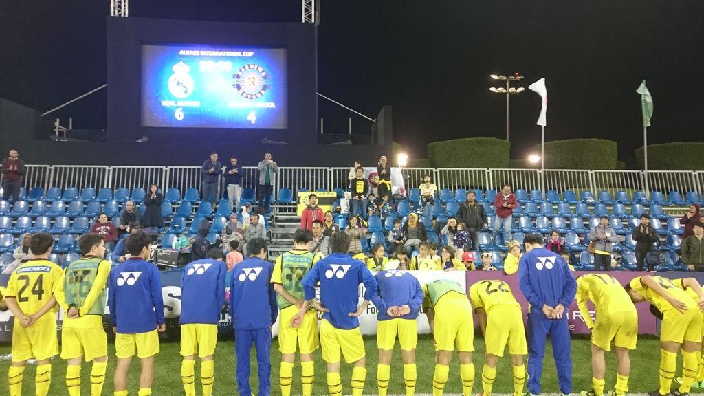 準々決勝 vsレアル・マドリード 2-2 (PK2-4)   たくさんのご声援、ありがとうございまし…