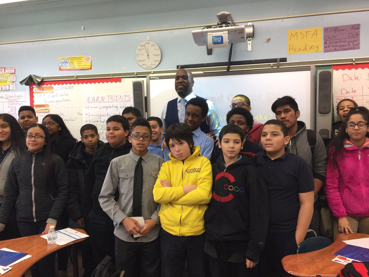 College & Career Day 2017 Cliff Morgan from the NEW YORK Knicks @D12PCs