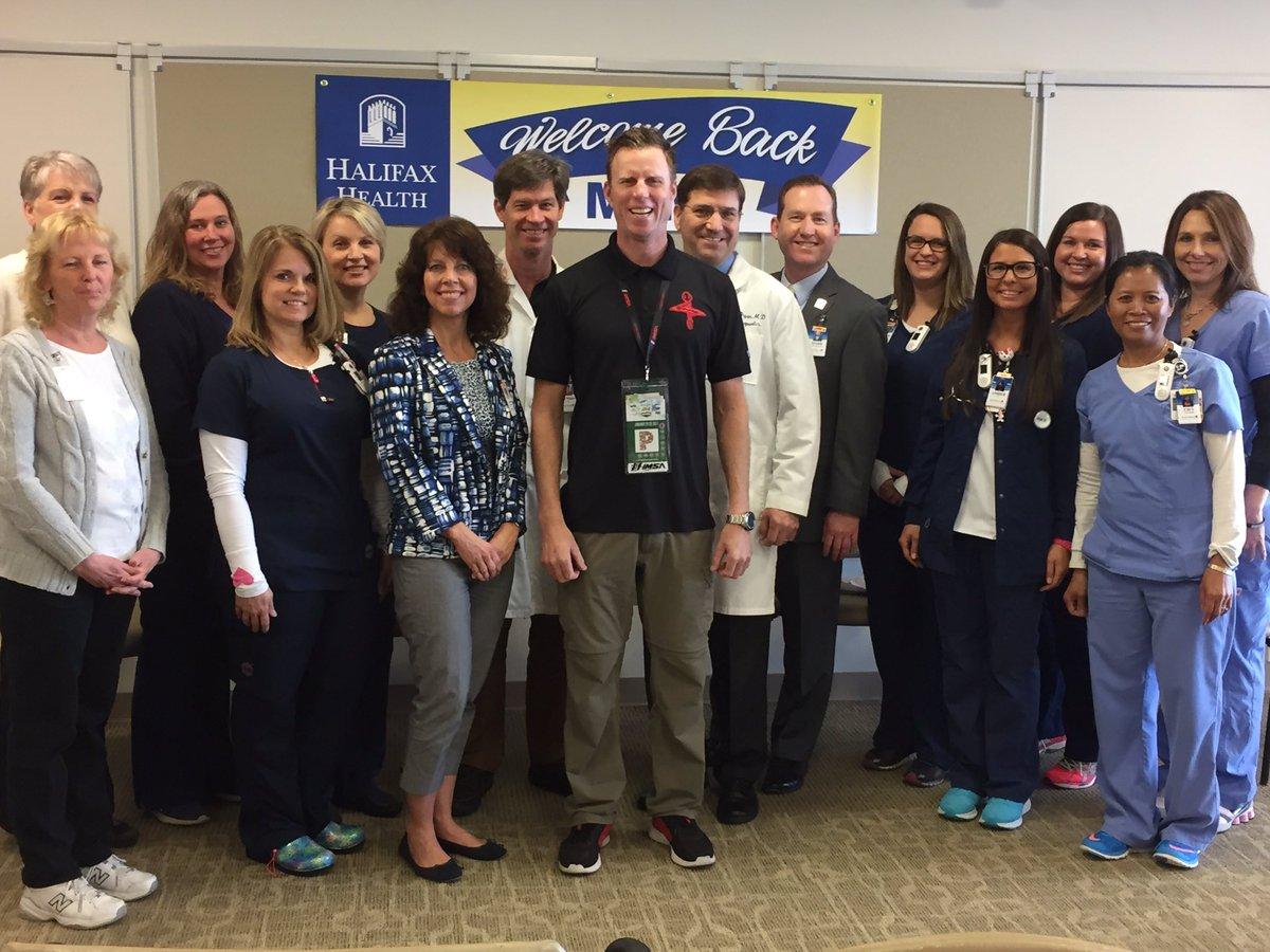 Gidley también visitó al staff médico del Hospital Halifax que le salvó la vida (FOTO: IMSA)