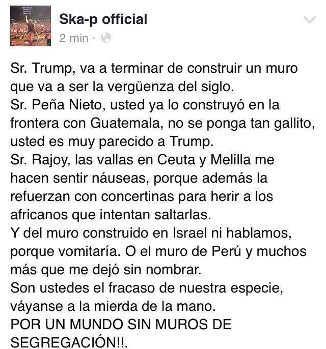 Cna pe a se queja del muro de trump mientras construye for Muralla entre mexico y guatemala