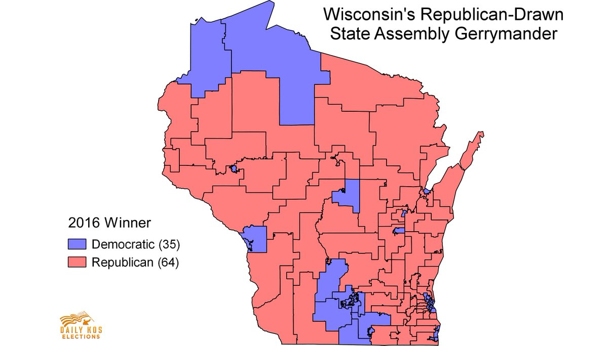 Stephen Wolf On Twitter Wisconsin S State Assembly Map Is So