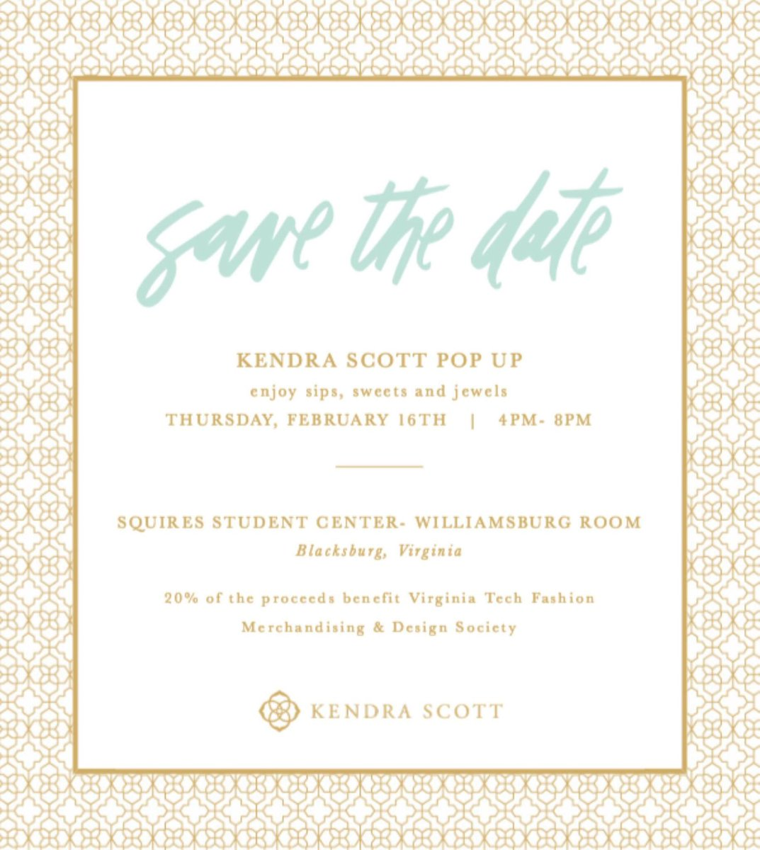 Vt Fmds On Twitter Save The Date For Our Kendra Scott Social Bring Along Friends So You Can All Enjoy Sips Sweets Jewels Can T Wait To See You All There Https T Co Buwwtyghpe