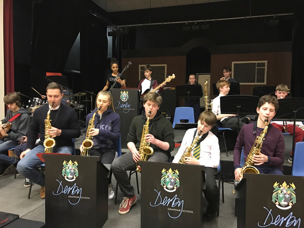 @HHMusicSchool #hhjam featuring #hhstu on staff busting out top G's! Come along and see @DerbyGrammar @hhyouthjazz