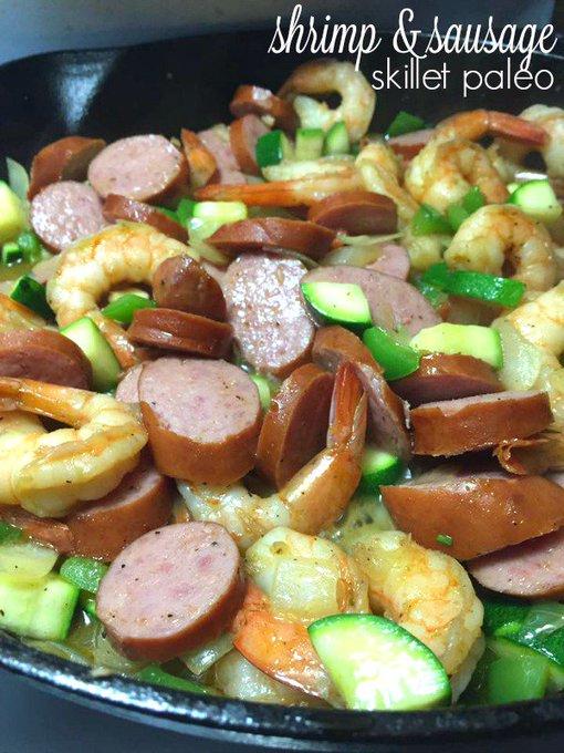 Shrimp & Sausage Skillet Paleo