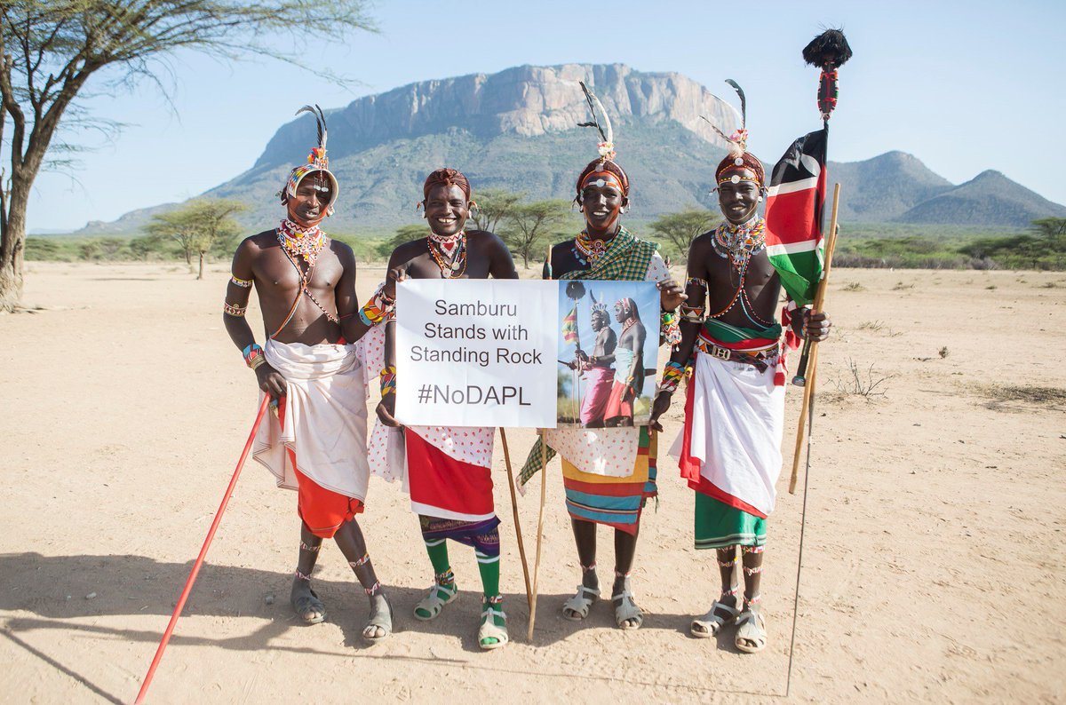 #Samburu tribe in #Kenya stands with #StandingRock #noDAPL around the world https://t.co/GMYGqKlDtV https://t.co/K6WWxpuSmH