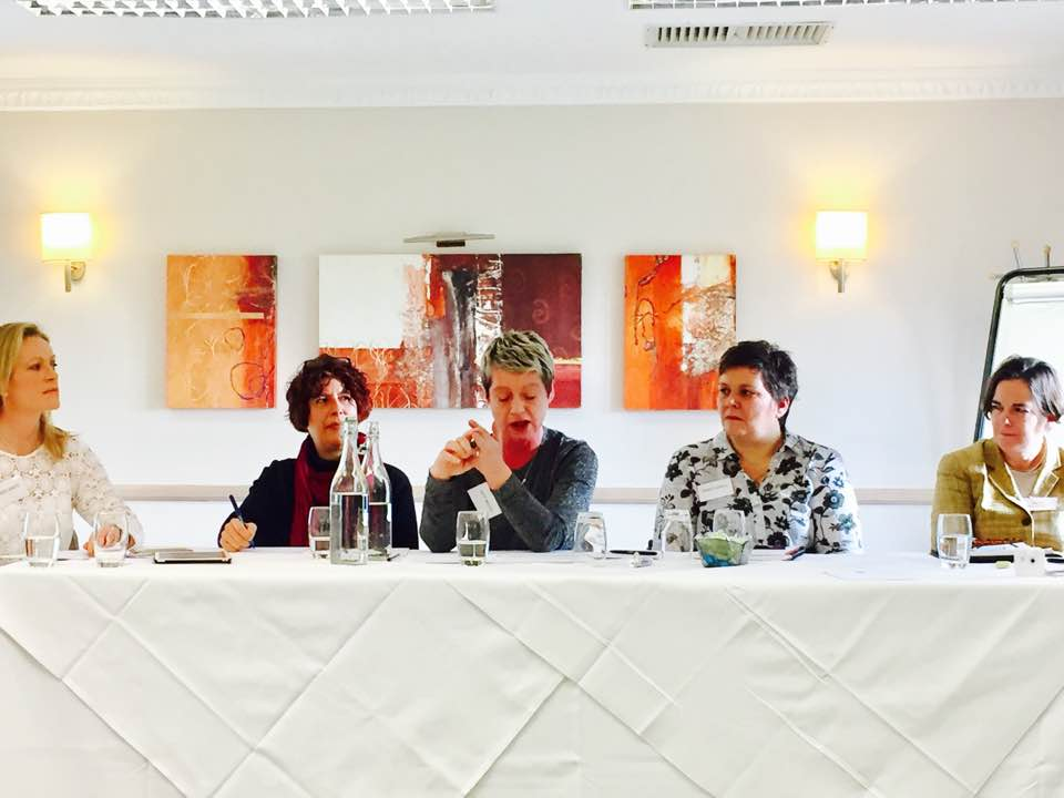 #FreeELT panel chaired by @KarenWhiteInk, featuring @dinnydaethat and @talentliberator. Photo by @GardnerNicola https://t.co/JoF027uyQl