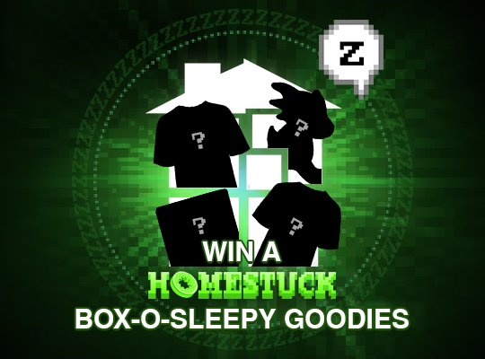 Enter to win a box-o-sleepy #homestuck goodies! https://t.co/R2jvBASPkO https://t.co/mkclA2ZQPe