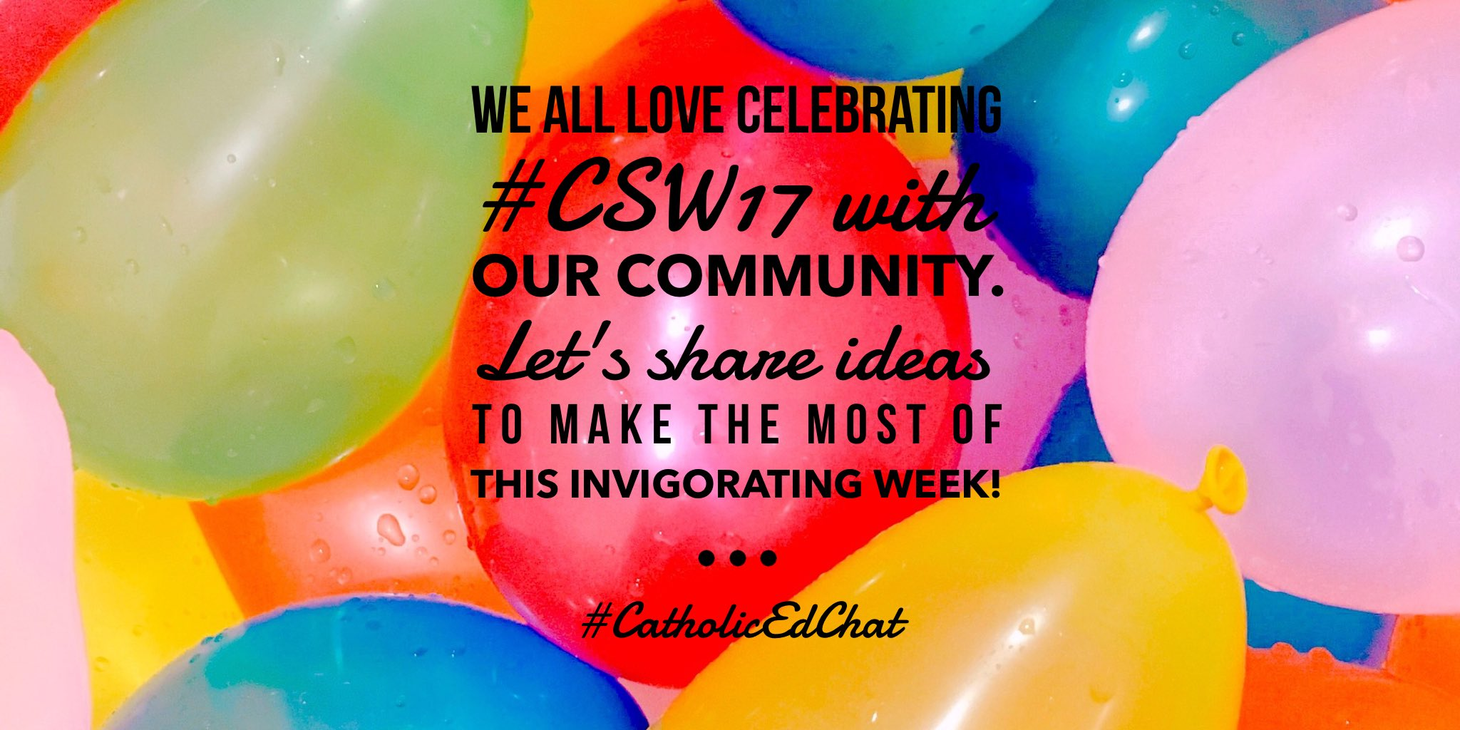 How can you keep your energy up during the fun of #CSW17? We will share self care ideas during #CatholicEdChat https://t.co/ThXidUcpah
