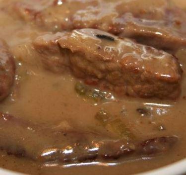Easy Creamy Mushroom Swiss Steak