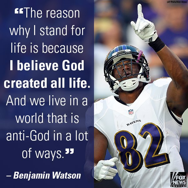 .@NFL Star @BenjaminSWatson on #MarchForLife: 'The Pre-Born Are Important' #First100 https://t.co/A9ohvuHKDa