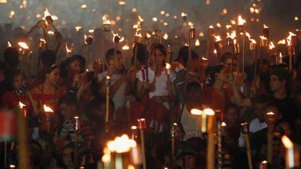 Camagüey: la luz de Martí y Fidel en una marcha (+ Fotos)