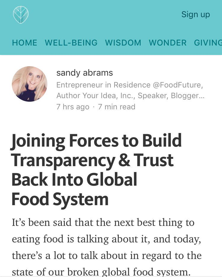 My article @thrive, I'd love to hear your thoughts on lack of transparency in #food system. https://t.co/H3Emn7iq1v https://t.co/GL4ooASjCi