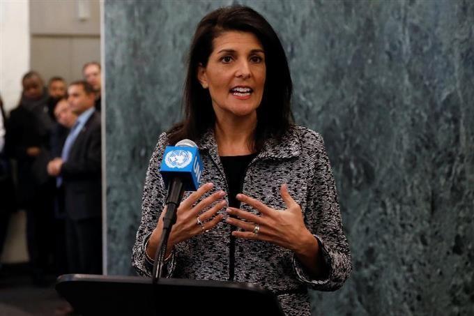 米国不支持なら「相応の対応」 ヘイリー国連大使、同盟国にくぎ sankei.com/photo/da…