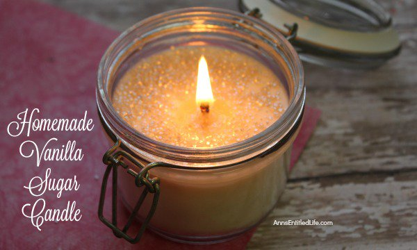 Homemade Vanilla Sugar Candle