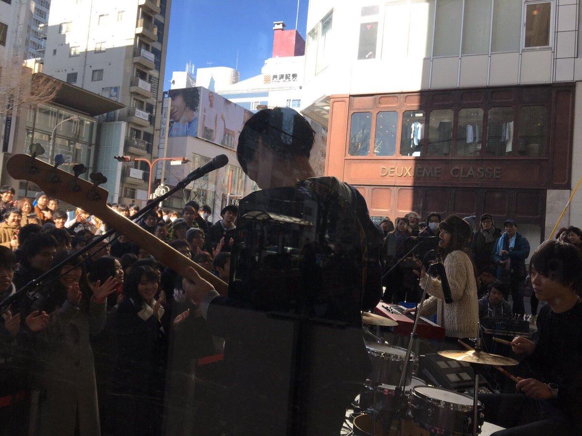 名古屋パルコにて「snow traveler」リリイベ終了❗️ 寒い中集まってくれた皆さん、タワレコ…