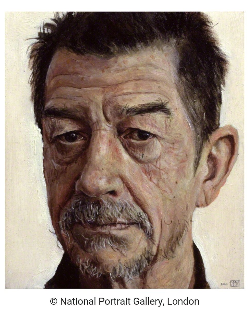 One of my favourite paintings in the @NPGLondon - John Hurt by Stuart Pearson Wright: https://t.co/2YkBH2ffcV