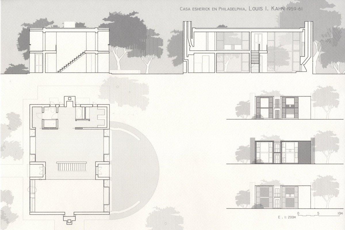 ... 100 Louis Kahn Floor Plans Louis Kahn U003e Fisher House ...