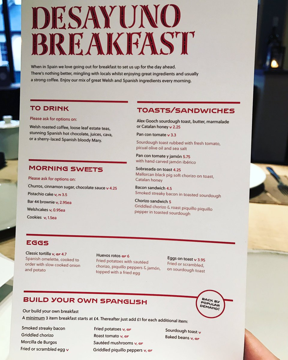 "bar 44 cowbridge on twitter: ""new awesome brekkie menu!!! #cowbridge"
