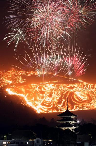 古都の夜空を赤く染める「若草山焼き」がすごい迫力 sankei.com/west/news/1701…