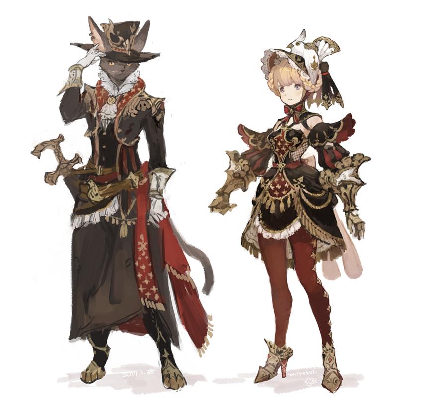 何か強そうなご令嬢と護衛(ほぼ役目がない)の猫剣士を描きたかった………