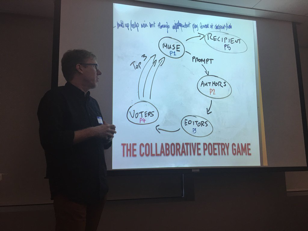 Example: poetry creation game - roles that come out based on various player types beyond core action plus support @hopfka https://t.co/Ypbk64Mc9y