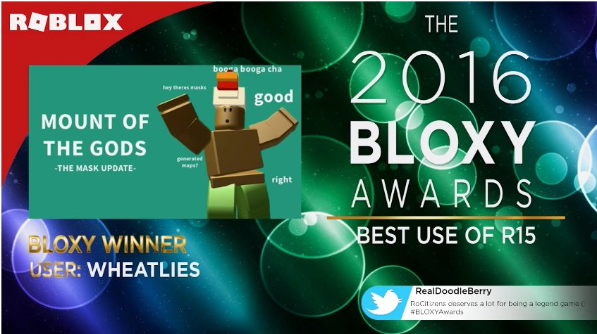 Roblox Mount Of The Gods Temple The Bloxy Awards 2016