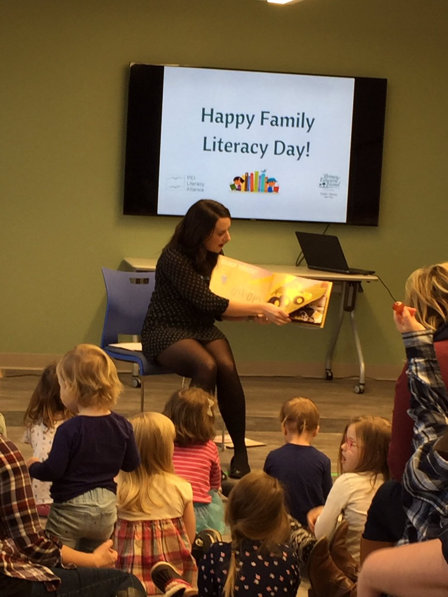 We're celebrating Family Literacy Day with families today! #familiesreadtogether