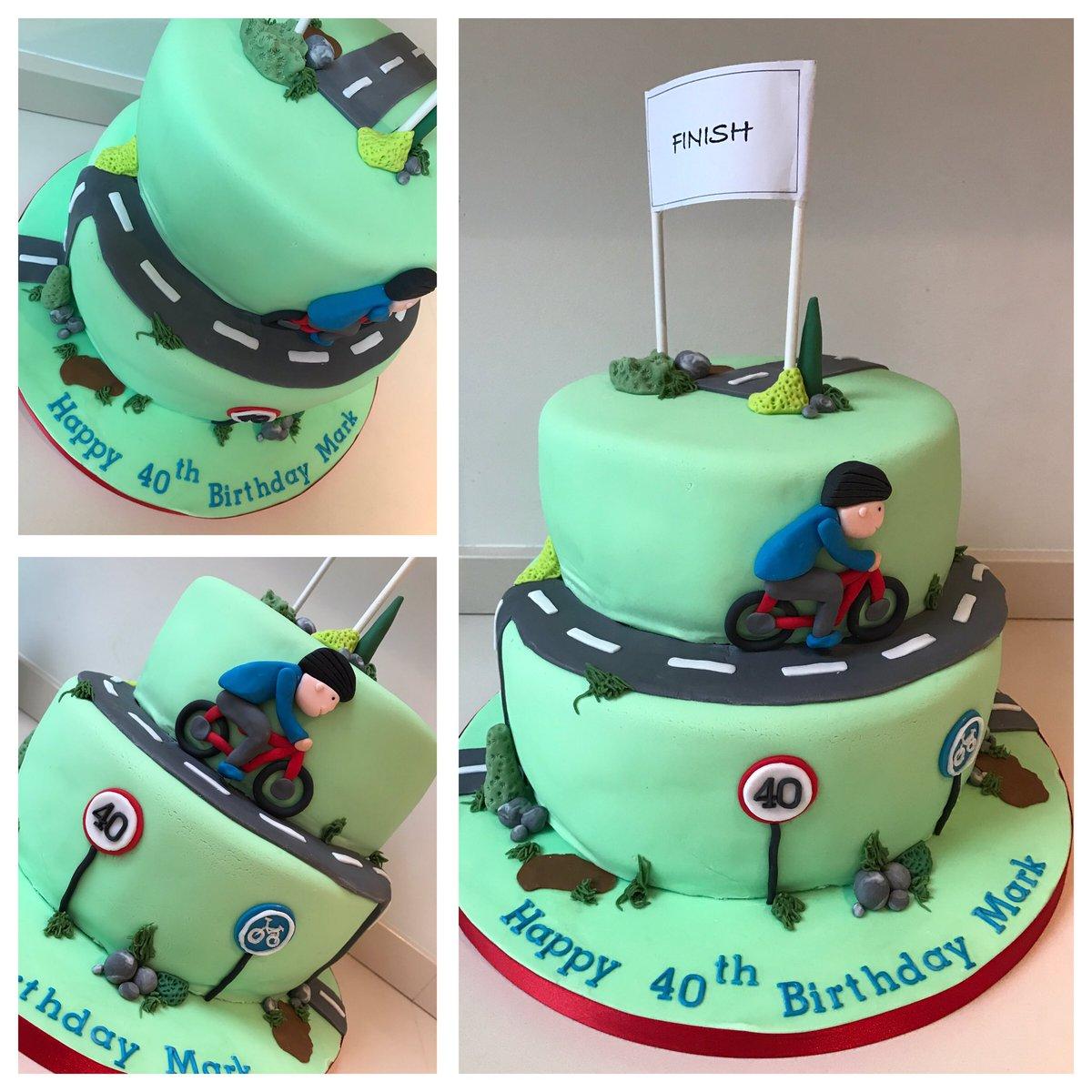 Rachel On Twitter Happy 40th Mark Cyclist Birthday Cake Urmston
