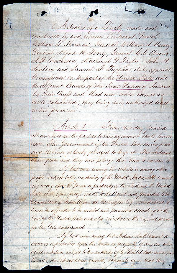 1868 Sioux Treaty