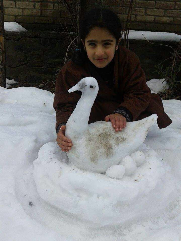 Kashmir snow sculptures