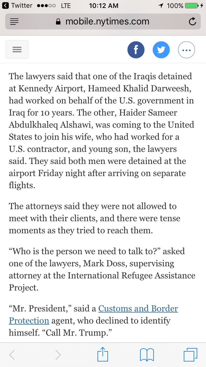 Https mobile nytimes com 2017 01 28 us refugees detained at us airports prompting legal challenges to trumps immigration order html smprod nytcore