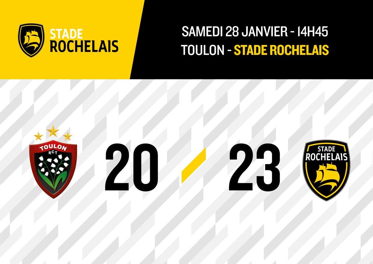 Victoire des Jaune et Noir à Toulon, 23 à 20 !!! #RCTSR #FievreSR https://t.co/WuzoRBaxCG