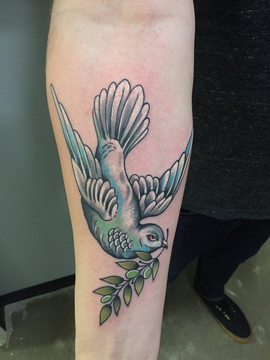 Dave Kruseman On Twitter Dove Olive Branch Tattoo 454tattoo
