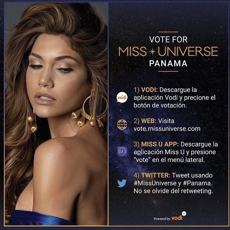 Vote for #MissUniverse #Panama